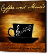 Coffee And Music Canvas Print by Lourry Legarde