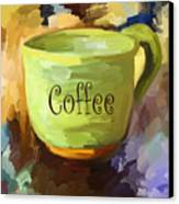 Coffee Cup Canvas Print by Jai Johnson