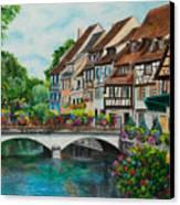 Colmar In Full Bloom Canvas Print by Charlotte Blanchard