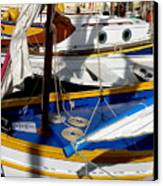Colorful Boats Canvas Print by Lainie Wrightson