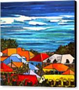 Colors Of St Martin Canvas Print by Patti Schermerhorn
