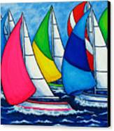 Colourful Regatta Canvas Print by Lisa  Lorenz