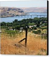 Columbia River - Biggs And Maryhill State Park Canvas Print by Carol Groenen