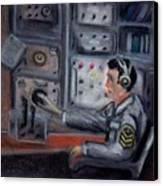 Communications Operator Canvas Print by Kostas Koutsoukanidis