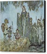 Comus Sabrina Rises Attended By Water-nymphs Canvas Print by Arthur Rackman