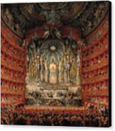 Concert Given By Cardinal De La Rochefoucauld At The Argentina Theatre In Rome Canvas Print by Giovanni Paolo Pannini or Panini