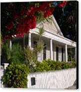 Conch House In Key West Canvas Print by Susanne Van Hulst