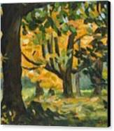 Concord Fall Trees Canvas Print by Claire Gagnon