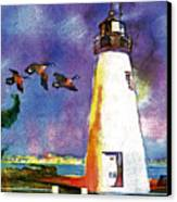 Concord Point Lighthouse Canvas Print by Dean Gleisberg