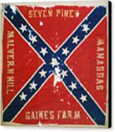 Confederate Flag Canvas Print by Granger