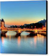 Connecting Bridge Canvas Print by Romain Villa Photographe