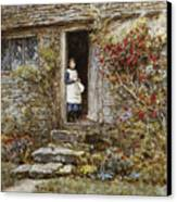 Corcorus Japonica Canvas Print by Helen Allingham
