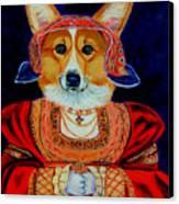 Corgi Queen Canvas Print by Lyn Cook