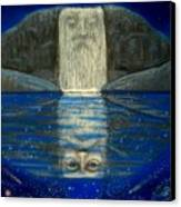 Cosmic Wizard Reflection Canvas Print by Sue Halstenberg