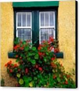 Cottage Window, Co Antrim, Ireland Canvas Print by The Irish Image Collection