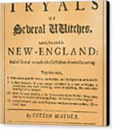 Cotton Mather, 1693 Canvas Print by Granger