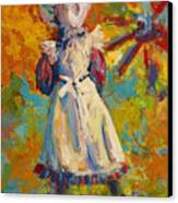 Country Girl Canvas Print by Marion Rose