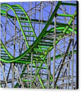 County Fair Thrill Ride Canvas Print by Joe Kozlowski