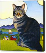 Coupeville Cat Canvas Print by Stacey Neumiller