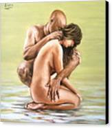 Couple Canvas Print by Natalia Tejera