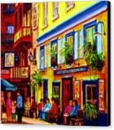 Courtyard Cafes Canvas Print by Carole Spandau