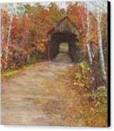 Covered Bridge  Southern Nh Canvas Print by Jack Skinner