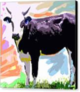Cow Time Canvas Print by David Lloyd Glover