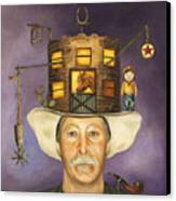 Cowboy Karl Canvas Print by Leah Saulnier The Painting Maniac