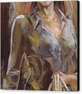 Cowgirl Canvas Print by Nelya Shenklyarska