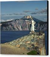 Crater Lake - A Most Sacred Place Among The Indians Of Southern Oregon Canvas Print by Christine Till