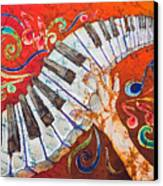 Crazy Fingers - Piano Keyboard  Canvas Print by Sue Duda