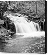 Creek Merge Waterfall In Black And White Canvas Print by James BO  Insogna