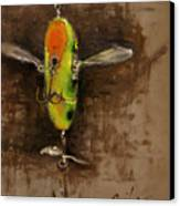 Creeper Muskie Lure Canvas Print by Larry Seiler