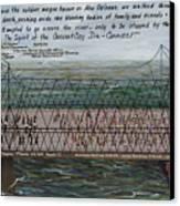 Crescent City Dis-connect Canvas Print by Beverly Kimble Davis