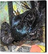 Crow Mid Flip Canvas Print by YoMamaBird Rhonda
