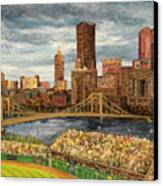 Crowded At Pnc Park Canvas Print by E E Scanlon