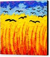 Crows Over Vincent's Field Canvas Print by John  Nolan