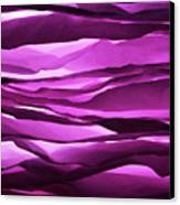 Crumpled Sheets Of Purple Paper. Canvas Print by Ballyscanlon