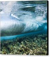 Curl Of Wave From Underwater Canvas Print by Dave Fleetham - Printscapes