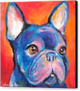 Cute French Bulldog Painting Prints Canvas Print by Svetlana Novikova