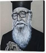 Cypriot Priest Canvas Print by Anastasis  Anastasi