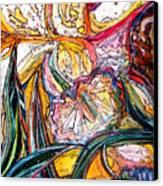 Daffodil Delirium Canvas Print by Mindy Newman