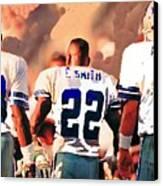 Dallas Cowboys Triplets Canvas Print by Paul Van Scott