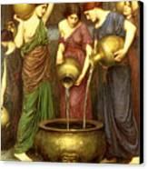 Danaides Canvas Print by John William Waterhouse