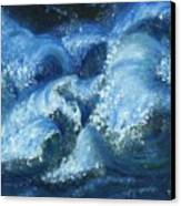 Dance Of The Stormy Sea Canvas Print by Tanna Lee M Wells