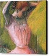 Dancer Arranging Her Hair Canvas Print by Edgar Degas