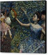 Dancer With A Tambourine Canvas Print by Edgar Degas