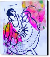 Dancer With Cord Canvas Print by Adam Kissel