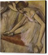 Dancers In Repose Canvas Print by Edgar Degas