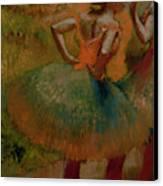 Dancers Wearing Green Skirts Canvas Print by Edgar Degas